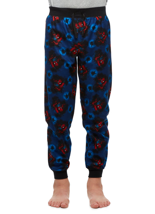 Spider-Man Big Boys Dark Blue & Red Soft Pajama Pants