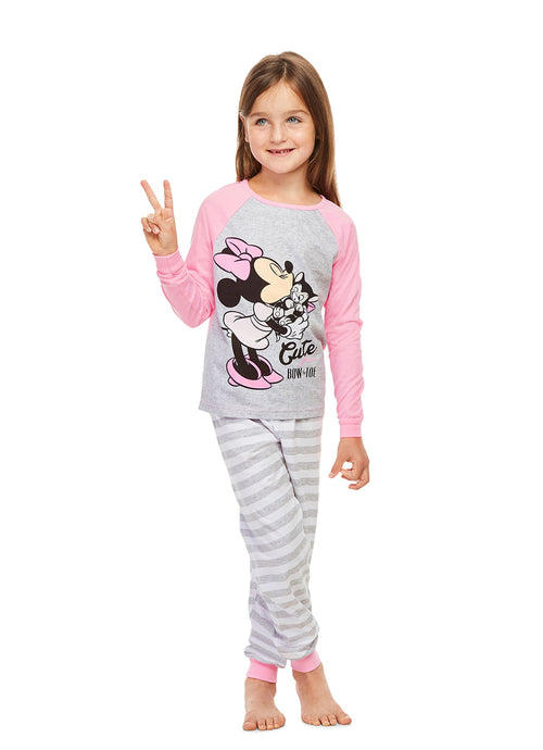 Disney Minnie Mouse Pajamas for Girls | 2-Piece Sleepwear | Cotton PJ Set