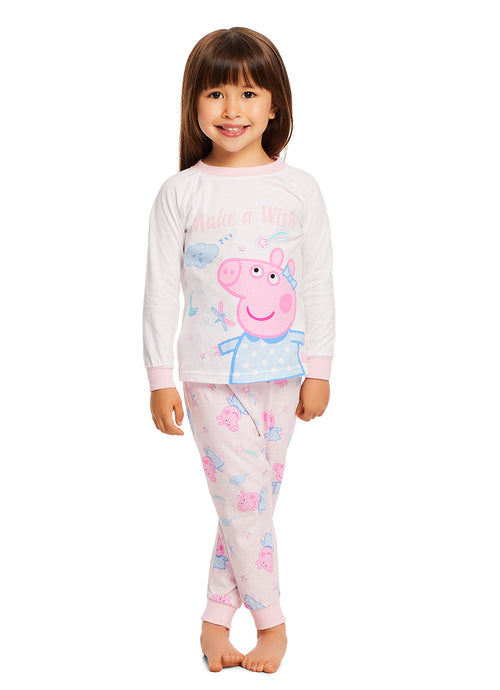 Peppa Pig Pajamas for Toddlers | 2-Piece Sleepwear | Make a Wish Girls PJ Set