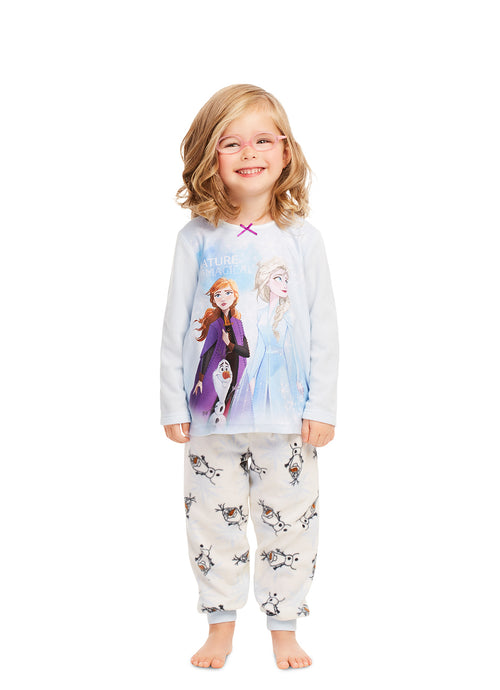 Disney Frozen 2 Girls Pajamas | Cute Blue Sleepwear