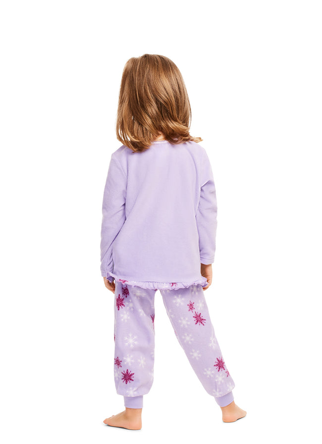 Disney Frozen 2 | 2-Piece PJ Set For Girls | Purple Fleece Pajamas For Kids