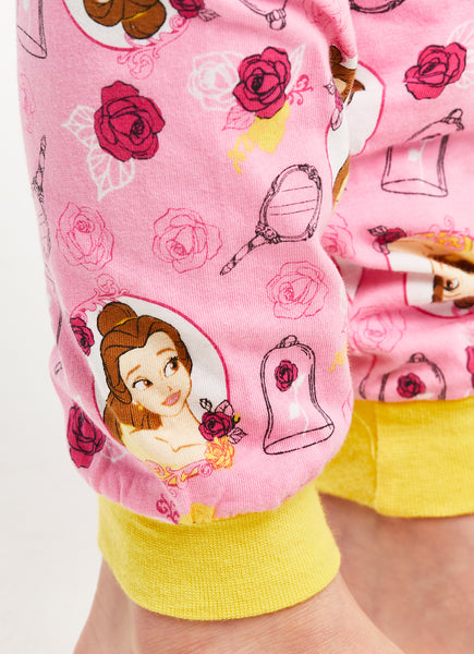 Disney Princess Bell Girls Pajamas Cotton 2-Piece Set