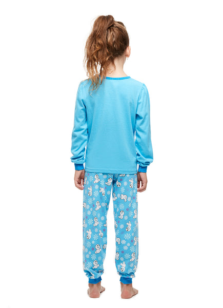 Girls 2-Piece Cotton Pajama Set, Long-Sleeve Top and Jogger Pants, Frozen, by Jellifish Kids