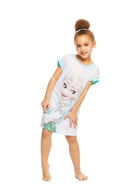 Disney Frozen Girls Comfortable Nightgown | with Matching Scrunchie