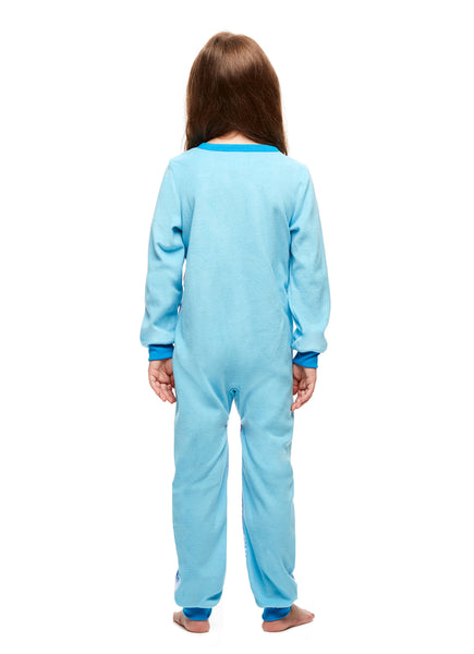 Girls Cozy Pajamas, Blanket Sleeper Onesie, Frozen, by Jellifish Kids