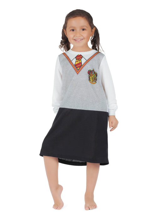 Harry Potter Girls Nightgown | Grey Polyester Jersey