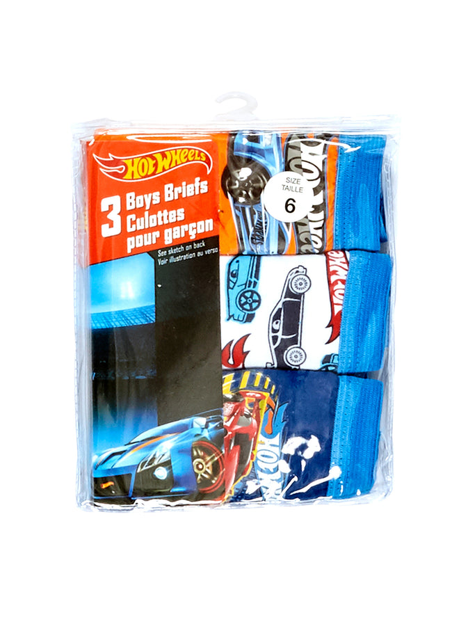 Hot Wheels Boys Underwear 3-Pack, by Jellifish Kids
