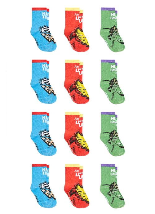 Avengers Infant Boys Socks | 12-Pack Crew Socks