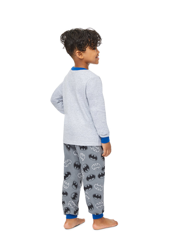 Batman Boys 2-Piece Pajama Sleepwear | Soft and Cozy Kids Grey Pajama Set