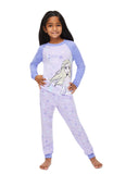 Frozen 2 Girls 2-Piece Sleepwear | Soft and Cozy Kids Purple Pajama Set