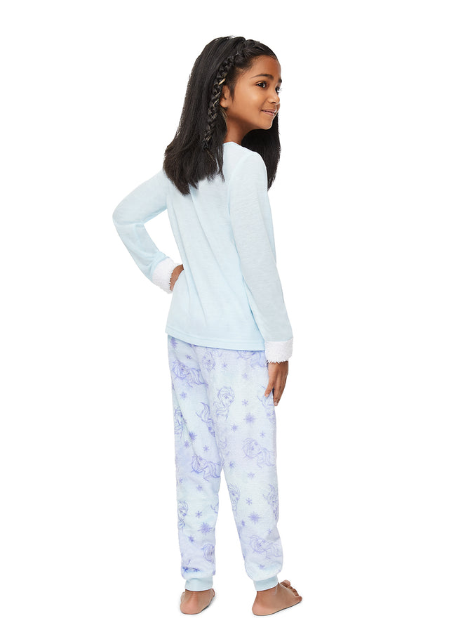 Frozen 2 Girls 2-Piece Sleepwear | Soft and Cozy Kids Aqua Pajama Set