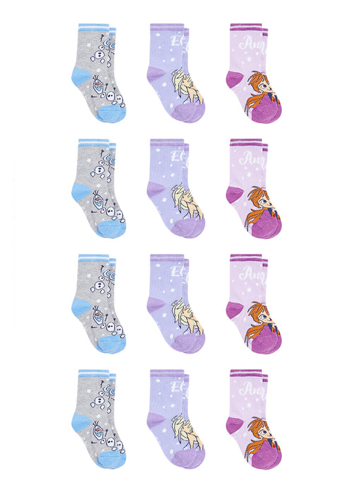 Frozen 2 Infant Girls Socks | 12-Pack Crew Socks