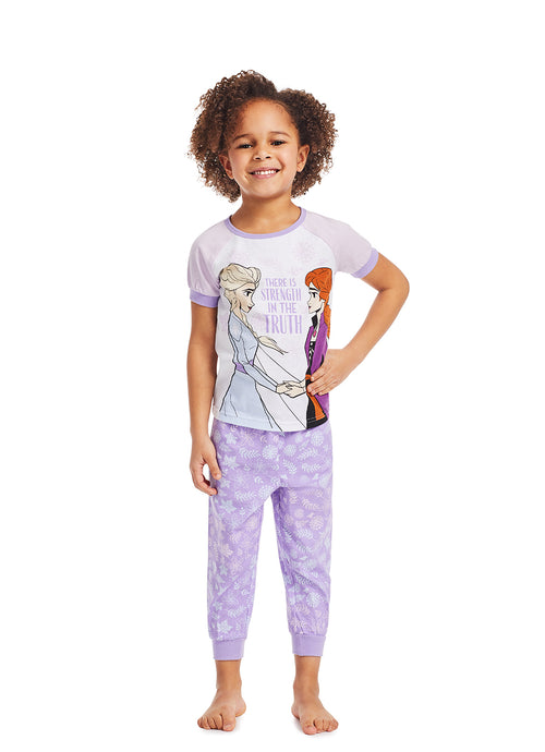 Frozen 2 Girls 2-Piece Sleepwear | Soft and Cozy Kids Lilac Pajama Set