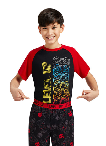 Gaming Print T-Shirt & Jogger Pants