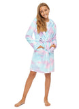 Girls Fleece Sleep Robe | 3D Unicorn Face Bathrobe