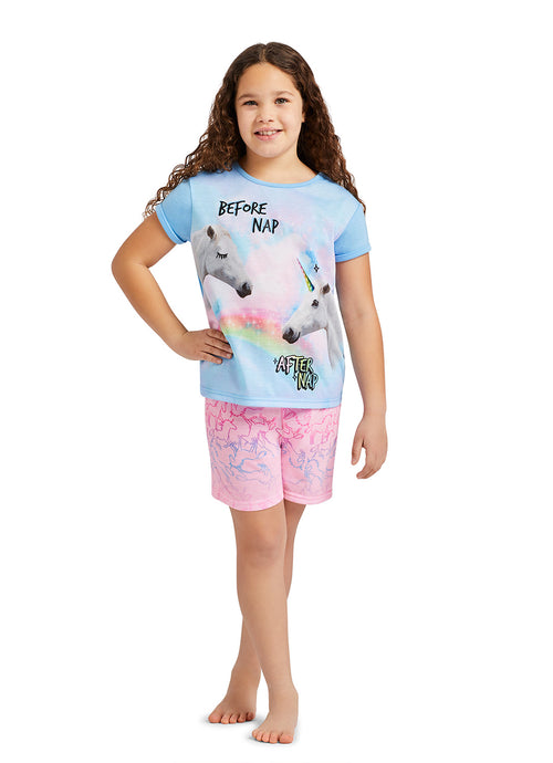 Unicorn Glitter Print Top, Shorts