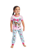 LOL Surprise Girls 2-Piece Sleepwear | Soft and Cozy Kids Pink Pajama Set