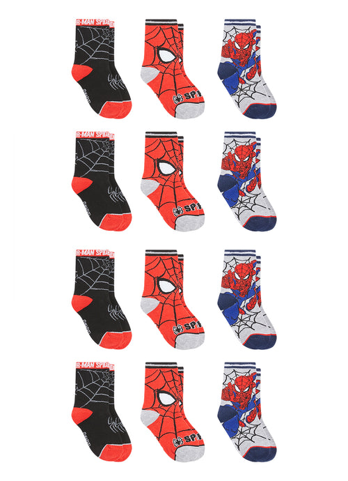 Spider-Man Boys Socks | 12-Pack Crew Socks