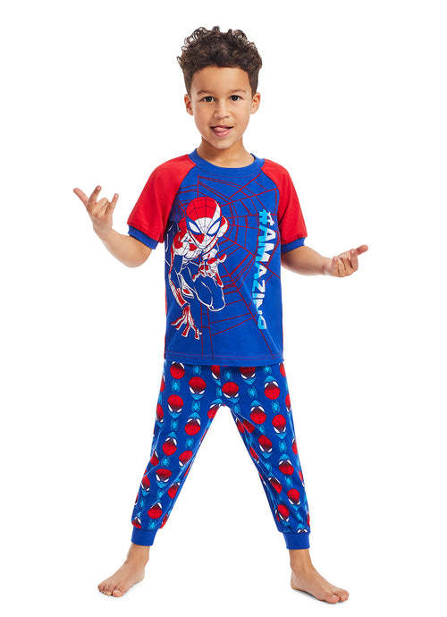 Spider-Man Boys 2-Piece Sleepwear | Soft and Cozy Kids Red Pajama Set