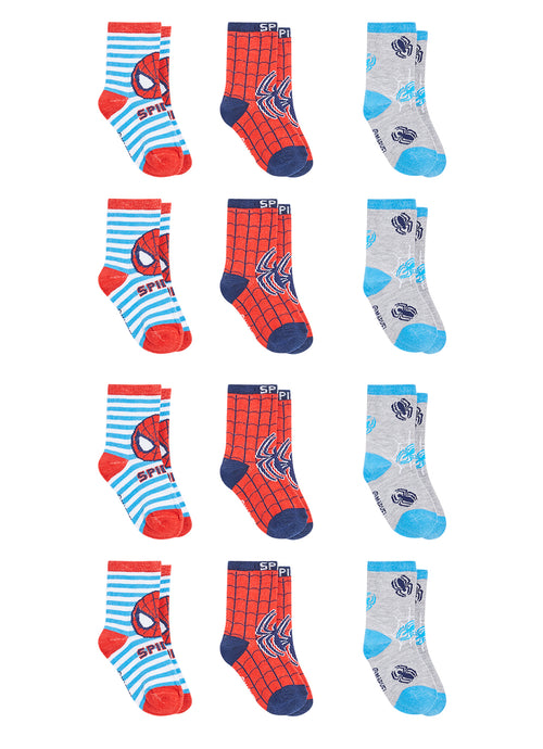 Spider-Man Infant Boys Socks | 12-Pack Crew Socks