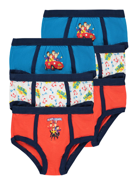 The Wiggles Boys Briefs | 6-Pack Boys Underwear