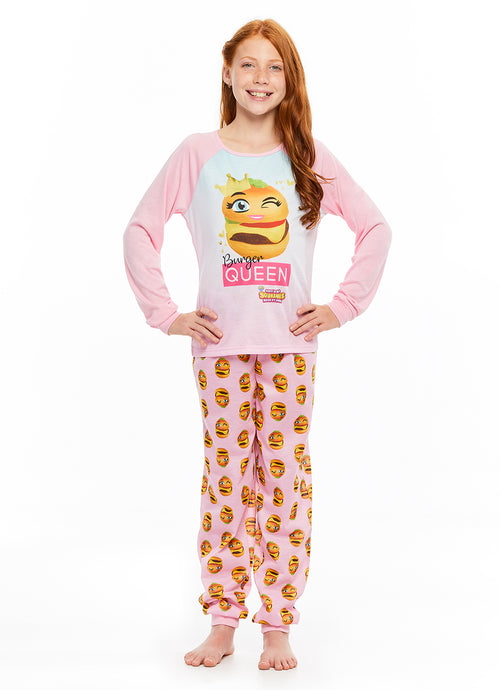 Burger Queen Squishy 2-Piece Pajama Set | Long Sleeve Top & Pajama Pants
