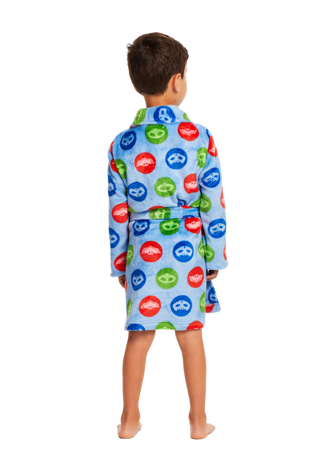 PJ Masks Boys Bathrobe Blue Fleece Sleepwear