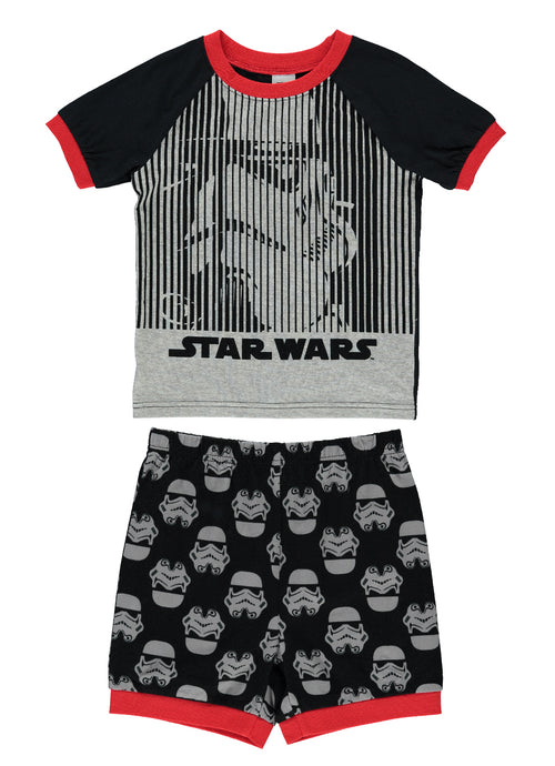 Star Wars  Boys 2-Piece Cotton PJ | Short-Sleeve Top & Shorts 2T