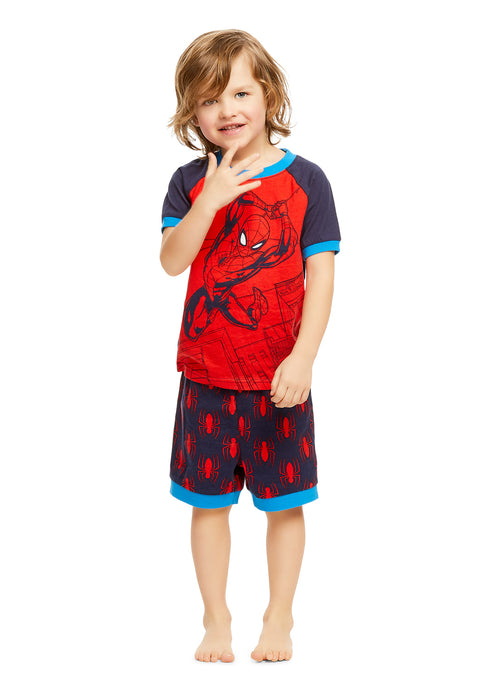 Spider-Man Boys Pajamas 2-Piece PJ Set With Shorts
