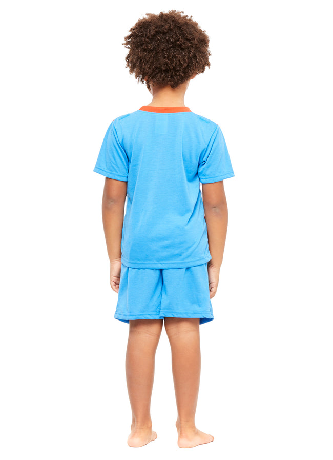 Boys 2-Piece Pajamas Set, Short-Sleeve Top and Shorts with Cape (Superman)