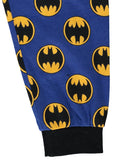 Batman Boys Pajamas Blue & Grey Cotton 2-Piece PJ Set