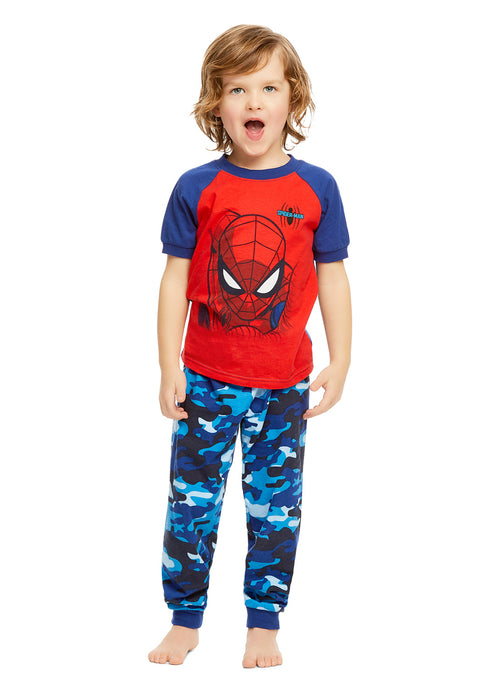 Spider-Man Boys Pajamas Cotton 2-Piece PJ Set