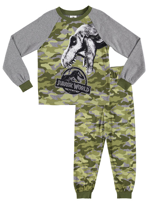 Jurassic World 2 Boys Sleepwear | Cotton Kids 2-Piece Pajama Set