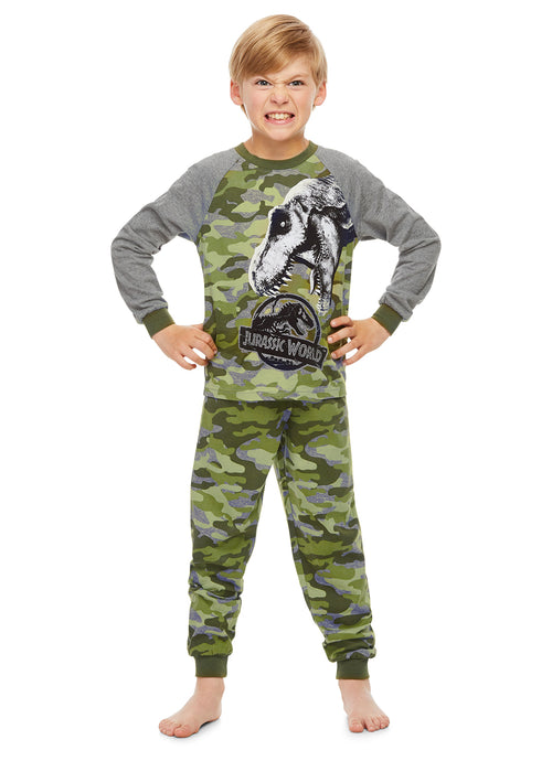 Jurassic World Boys Pajamas Cotton 2-Piece PJ Set