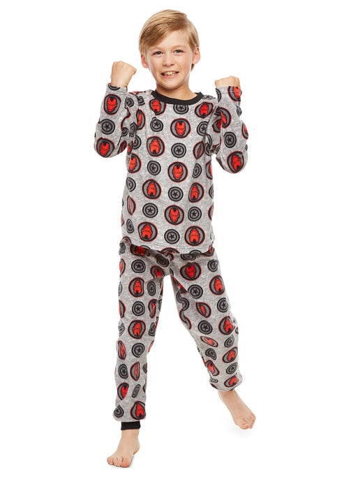 Marvel Comics Retro Classic Boys Sleepwear | Fleece Kids 2-Piece Pajama Set