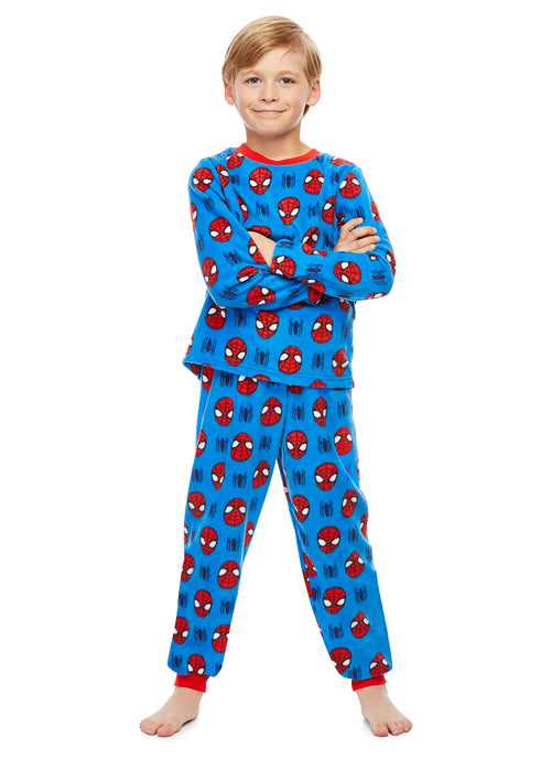 Spider-Man Character Boys Sleepwear | Fleece Kids 2-Piece Pajama Set