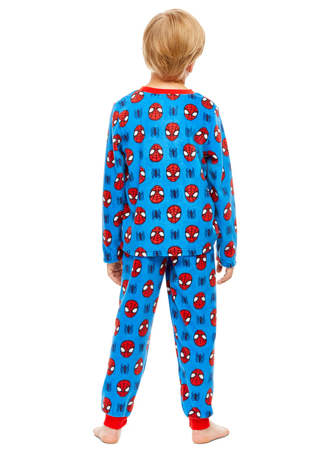 Spider-Man Logo Boys Fleece 2-Piece Pajama Set