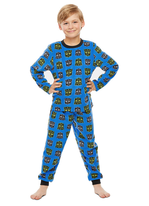 Transformers Character Boys Sleepwear | Fleece Kids 2-Piece Pajama Set