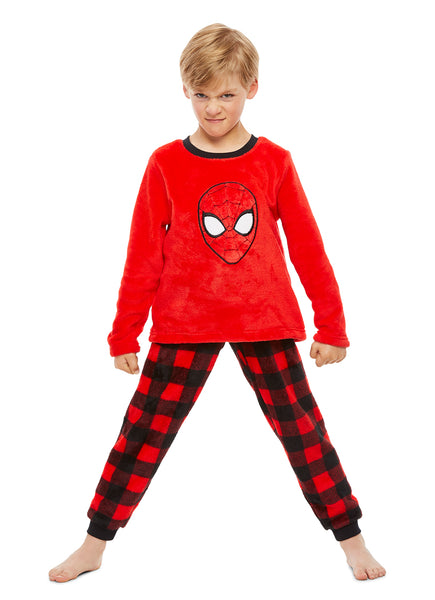Spider-Man Boys Sleepwear | Fleece Kids 2-Piece Pajama Set