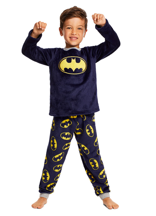 Batman Boys Sleepwear | Fleece Kids 2-Piece Pajama Set