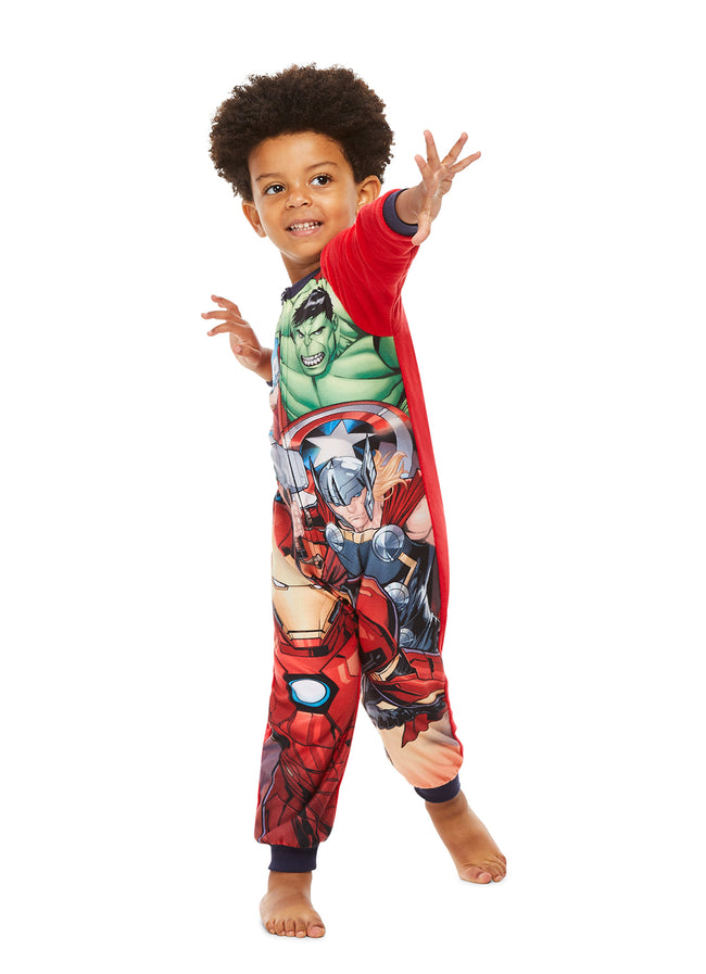 Avengers Boys Blanket Sleeper | Zippered Onesie Pajama