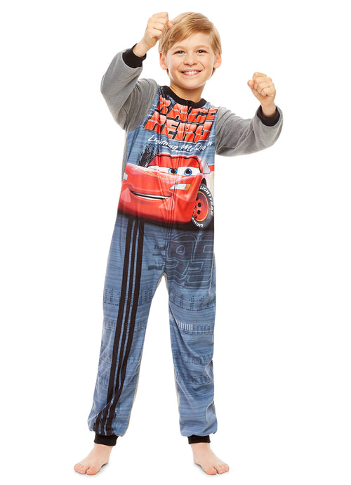 Cars Boys Onesie Lightning McQueen One Piece Pajamas