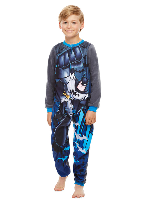 Batman Boys Onesie Blue Blanket Sleeper Pajamas