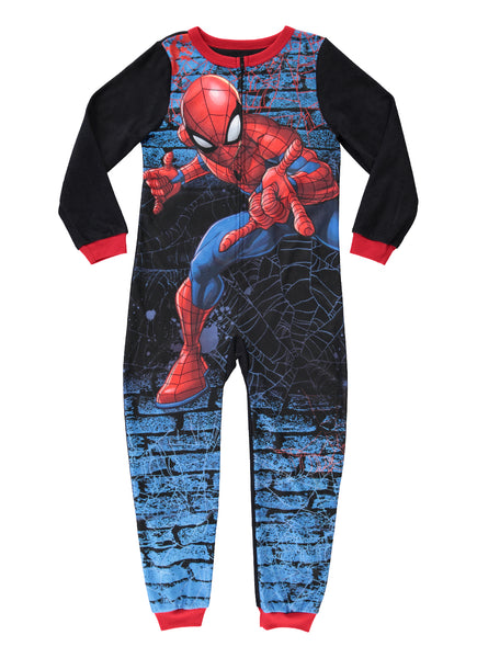 Spider-Man Boys Onesie Jersey & Fleece Pajamas