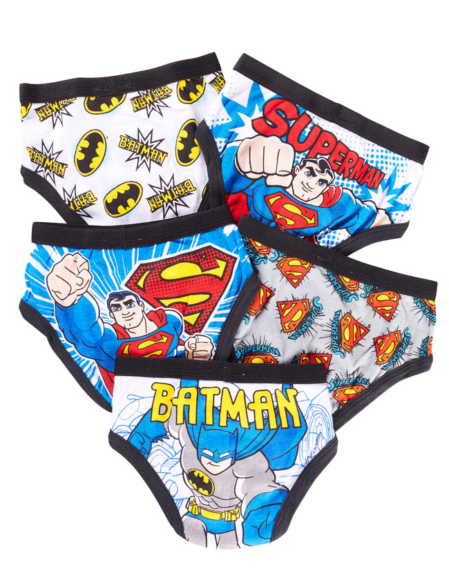 DC Super Friends Briefs for Boys | Pack of 5 Underwear for Toddlers & Kids