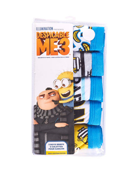 Despicable Me 3 Briefs For Boys | Pack of 5 Underwear For Toddlers & Kids