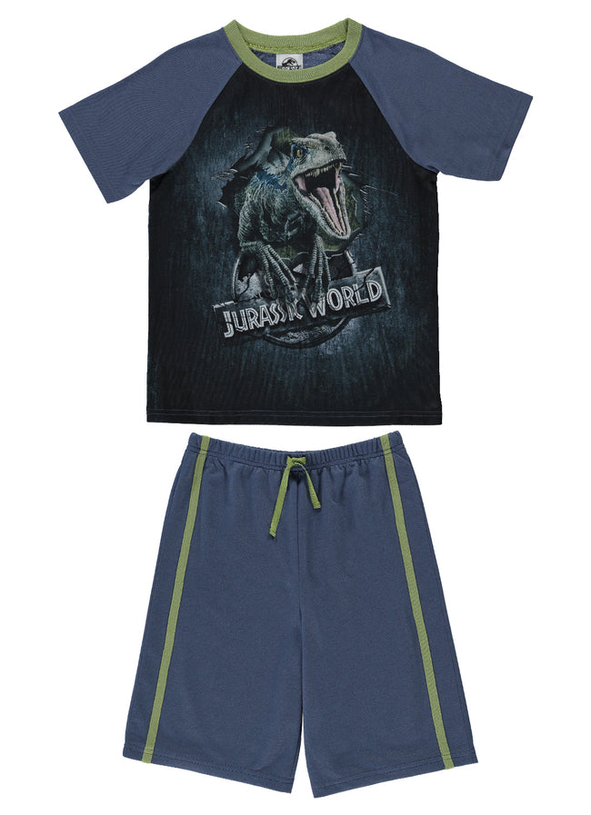 Jurassic World Big Boys Cotton 2-Piece Pajama Set