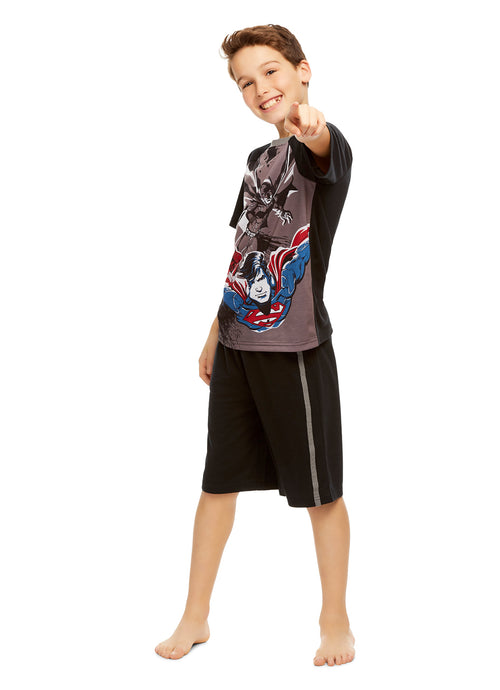 Justice League   Boys 2-Piece PJ | Short-Sleeve Top & Shorts