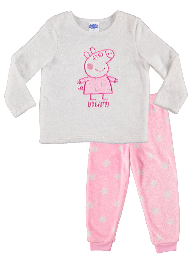Peppa Pig Girls 2-Piece Pajama Set | Adorable Fleece Pajamas For Toddlers