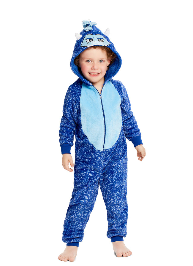 Boys & Toddler Pajamas | Plush Zippered Yeti Kids Onesie Blanket Sleeper